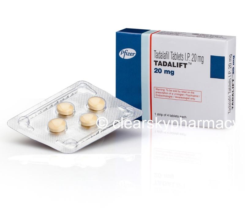 Tadalift By Pfizer | Buy Generic Tadalafil 20 mg Tablets Online